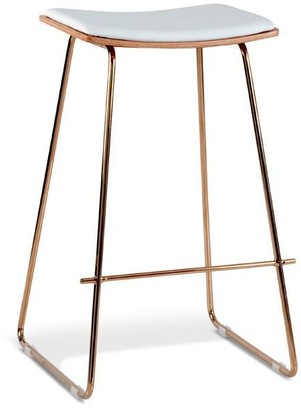 Multi Seating Company Calgary Stool Rose Gold/natural And White