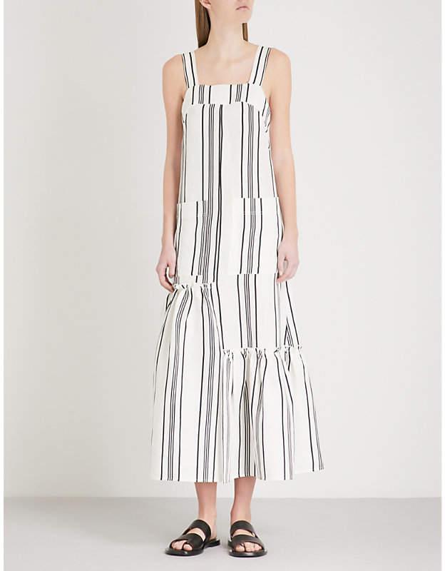 Apiece Apart Senecio striped linen and silk-blend dress