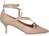 Valentino Love Latch Eyelet-embellished Leather Pumps - Blush