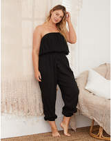 aerie Strapless Ruffle Jumpsuit