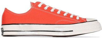 Converse Orange Chuck Taylor All Star low top canvas sneakers