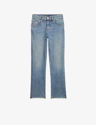 Maje Pachab straight-leg high-rise jeans