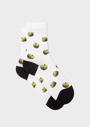 Paul Smith Women's White 'Green Apple' Socks