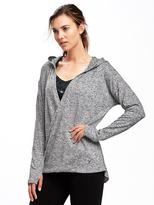 Old Navy Go-Warm Front-Wrap Fleece Hoodie for Women