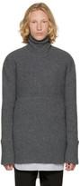 Wooyoungmi Grey Wool Turtleneck