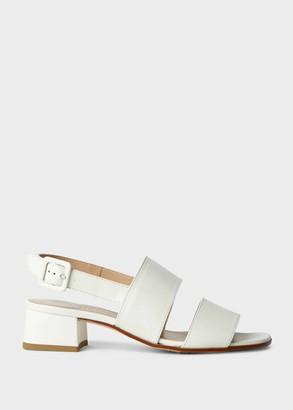 Hobbs Claudia Leather Block Heel Sandals