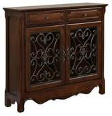 Bed Bath & Beyond 2-Door 2-Drawer Scroll Console in Light Cherry