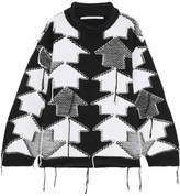 Stella McCartney Intarsia-knit Wool Sweater - Black