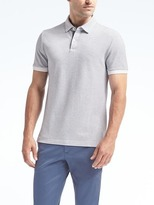 Banana Republic Slim Pique Small Grid Polo