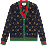 Gucci Tiger argyle wool cardigan