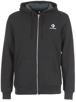 Converse STAR CHEVRON EMBROIDERED FZ HOODIE men's Sweatshirt in Black