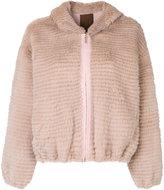 Liska - fur zipped jacket - women - Mink Fur/Cashmere/Wool - M