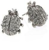 Oscar de la Renta Crystal Bug Stud Earrings