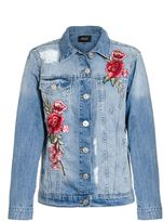 Quiz Blue Embroidered Denim Jacket