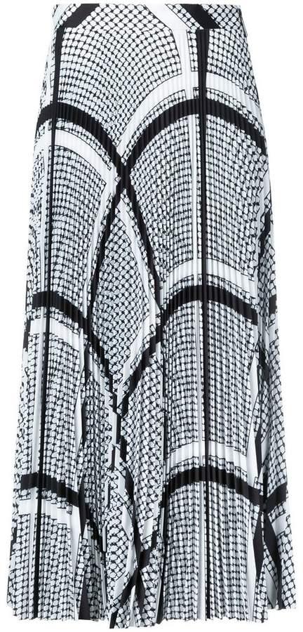 MSGM keffiyeh print pleated skirt