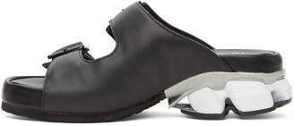 Miharayasuhiro Black Leather Sneaker Heel Sandals