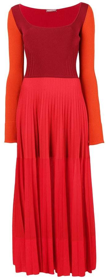 Alexander McQueen long-sleeve flared dress