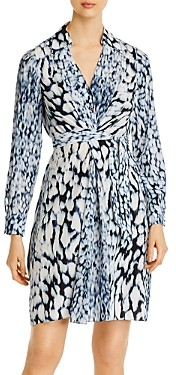 Elie Tahari Saxon Printed Shirt Dress