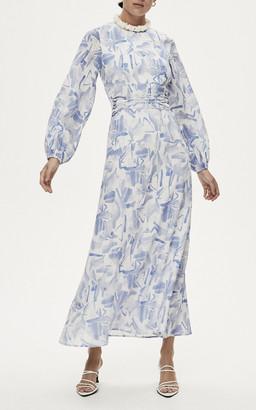 Rachel Gilbert Faris Long Sleeve Maxi Dress