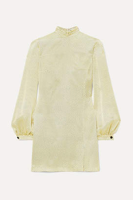 Raquel Diniz Elle Polka-dot Silk-satin Mini Dress - Yellow
