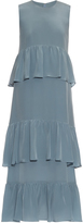 Raey Tiered-ruffle silk-georgette dress