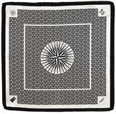 Black 'The Right Direction' Italian Silk Pocket Square
