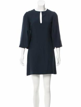 Alexander McQueen Flared Sleeve Mini Dress