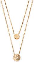 "Michael Kors 16"" Two Layer Double Pendant Necklace"