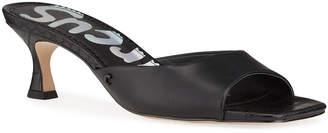 Sam Edelman Croc-Embossed Kitten Heel Sandals