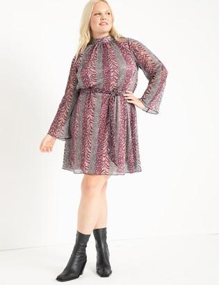 ELOQUII Mixed Print Mini Dress
