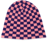 The Elder Statesman Checkered Cashmere Beanie