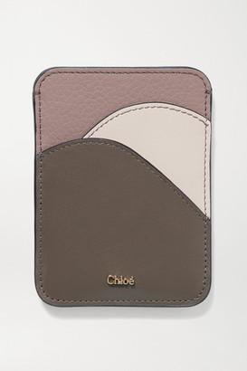 Chloé Walden Color-block Leather Cardholder - Pink