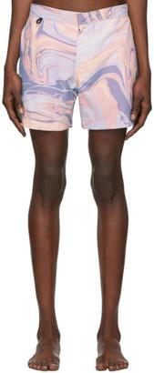Double Rainbouu Multicolor Honey Pot Swim Shorts