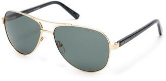 Ted Baker 57mm Metal Frame Aviator Sunglasses