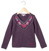 Kenzo Girls' Embroidered Knit Sweater
