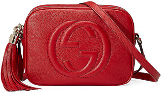 Gucci Small Leather Disco Bag in Vibrant Red | FWRD