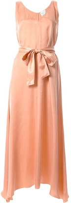 Forte Forte Chic Satin Belted Dress