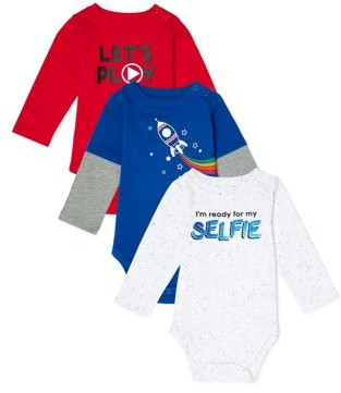 Garanimals Baby Boy Bodysuits, 3-Pack