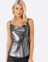 Forever New Mary Metallic Bias Cowl Cami