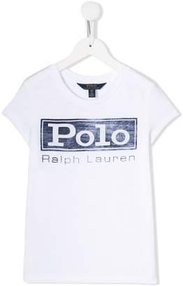 Ralph Lauren Kids denim print T-shirt