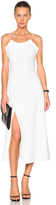 Victoria Beckham Ruched Cami Flared Dress