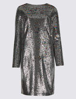 Limited Edition Sequin Long Sleeve Shift Dress