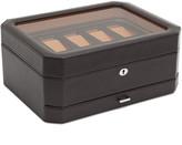 Wolf 10 Piece Watch Box with Drawer - Brown/Orange