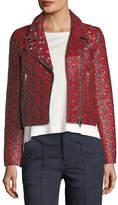 Isabel Marant Heaton Raffia Jacquard Moto Jacket