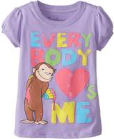 Curious George Little Girls' Everybody Loves Me Girls T-Shirt