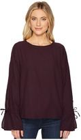 Heather Liberty Twill Voile Tie Sleeve Top Women's Clothing