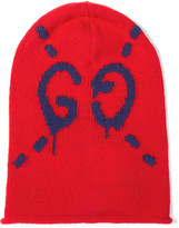 Gucci Intarsia Wool Beanie - Red