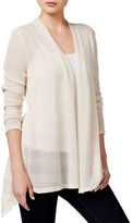 Style And Co. Plus Lace Inset Hi-Lo Cardigan