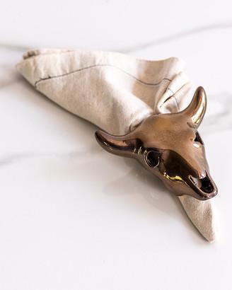 Rialheim Cow Skull Napkin Holder, Bronze