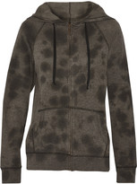 Current/Elliott The Vintage French cotton-blend terry hooded jacket
